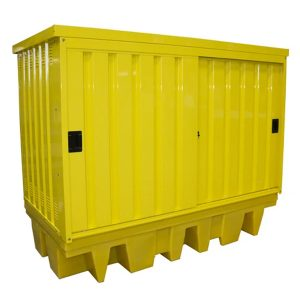 Hard Covered Dual IBC Spill Pallet