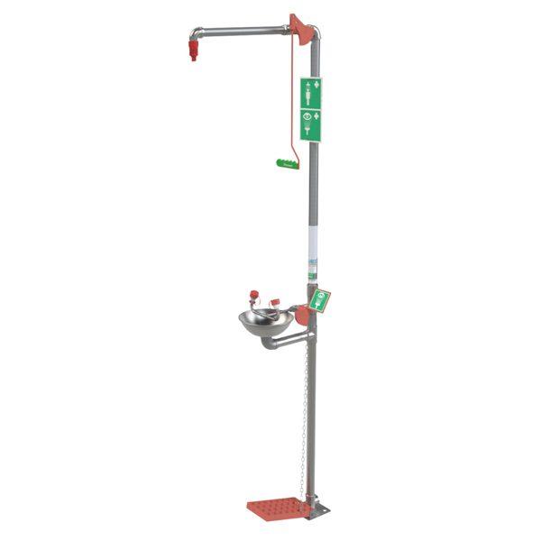 Indoor Combination Safety Shower & Eye Wash
