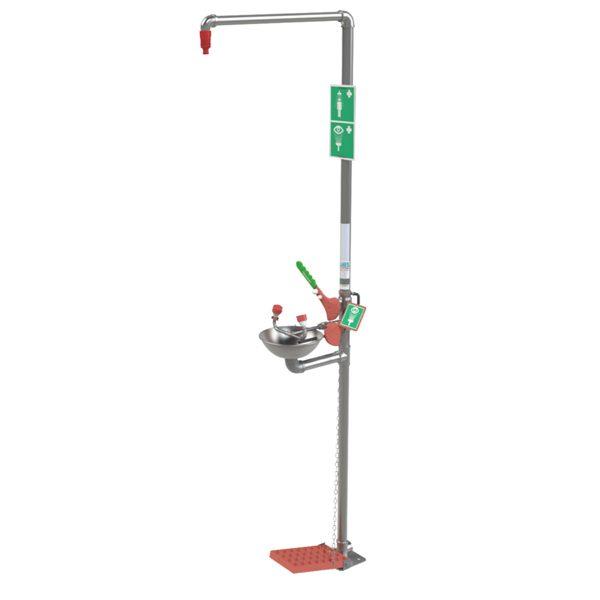 Outdoor Stainless Steel Safety Shower & Eyewash