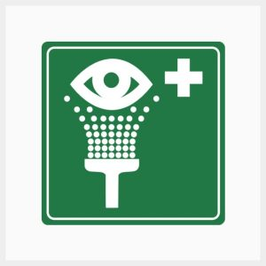 Eye Wash Sign Metal Single Sided