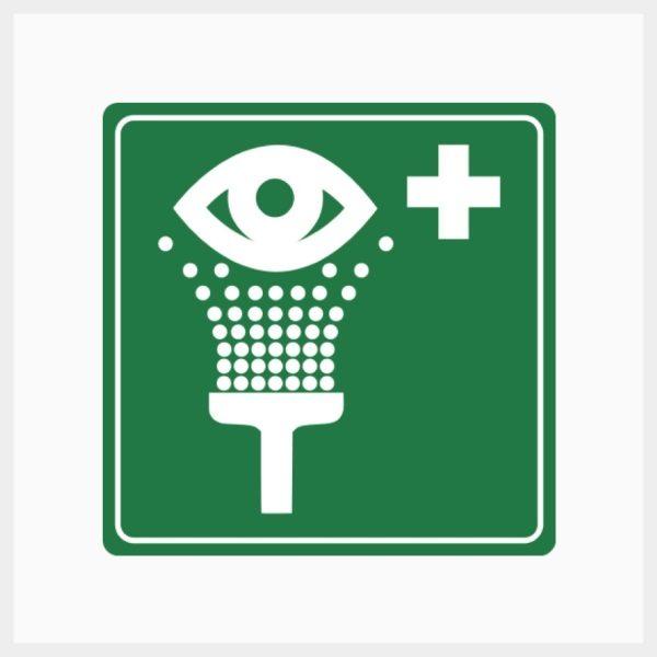 Eyewash Sign Metal Single Sided