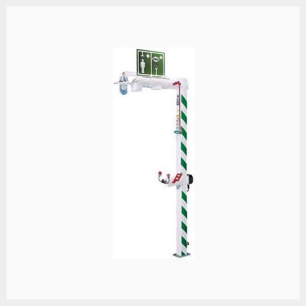 Outdoor Heated & Insulated Emergency Safety Shower with Eyewash
