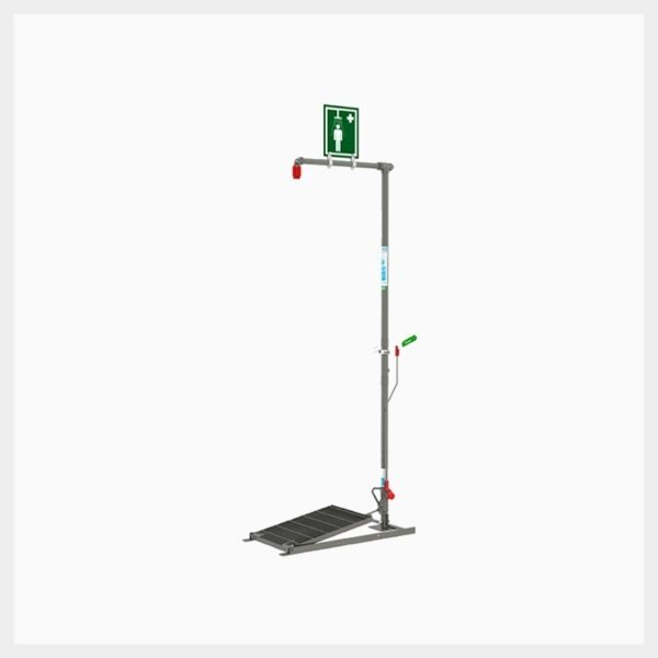 Floor Mounted Self-Draining Emergency Drench Shower