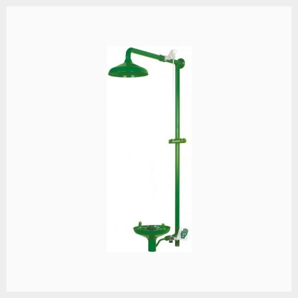 Wall Mounted Laboratory Shower with Eye/Face Wash