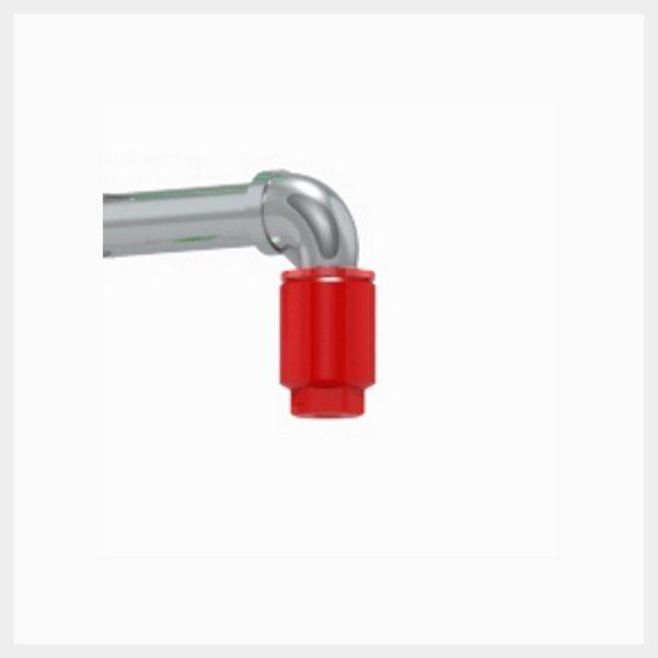 Red Nylon Plastic Shower Nozzle