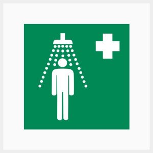 Safety Shower Sign Metal Double Sided
