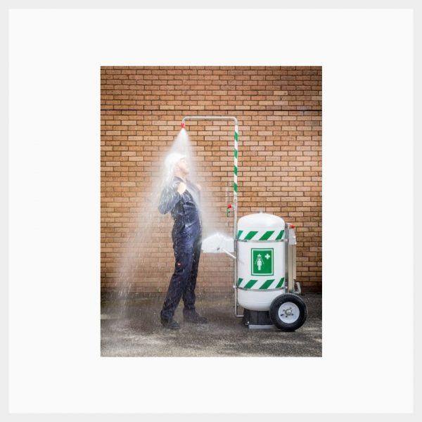 Portable Interim Safety Shower/Eyewash