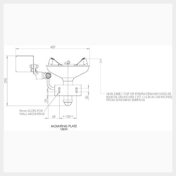 H-STD85G Wall Mounted Eye/Facewash