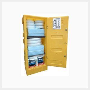 375 Litre Hazardous Chemical Spill Kit in Lockable Poly Cabinet