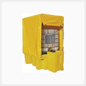 Single IBC Spill Pallet Framed Cover