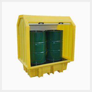 TSSBP2RT - 230 Litre 2-Drum Hard-Cover Spill Pallet