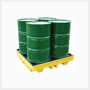 Spill Pallet – 230 Litre Sump 4-Drum Square