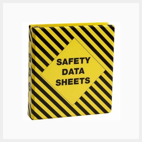 Safety Data Sheets Binder – Vinyl Striped