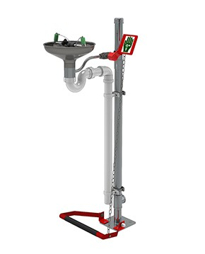Pedestal Mounted Eye/Facewash Stainless Steel